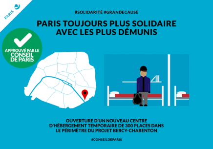 Ouverture d'un centre temporaire d'hébergement d'urgence au Bastion de Bercy